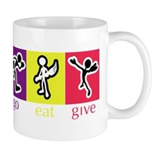 Go Eat Give logo Small Mug