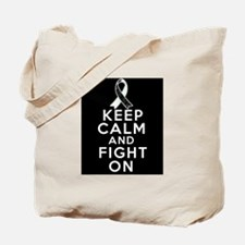 Carcinoid Cancer Keep Calm Fight On Tote Bag