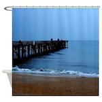 Flagler Beach Fishing Pier Photo Shower Curtain