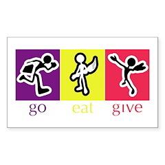Go Eat Give logo Sticker (Rectangle)