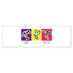 Go Eat Give logo Bumper Sticker
