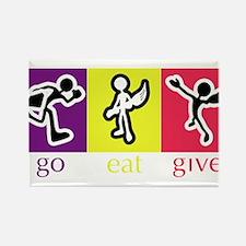 Go Eat Give logo Rectangle Magnet