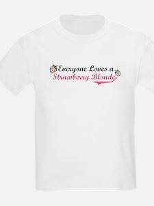 Everyone Loves a Strawberry B Kids T-Shirt