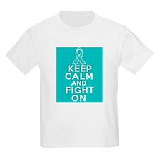 Gynecologic Cancer Keep Calm Fight On T-Shirt