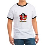 Red Football Penguin Ringer T