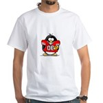 Red Football Penguin White T-Shirt