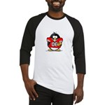 Red Football Penguin Baseball Jersey