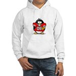 Red Football Penguin Hooded Sweatshirt