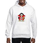Red Football Penguin Hooded Sweatshirt