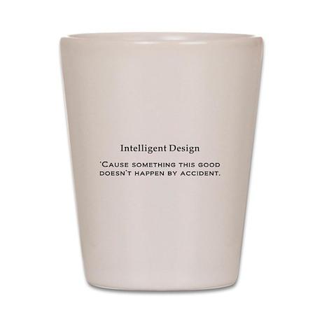 Intelligent Design black Shot Glass