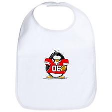 Red Football Penguin Bib