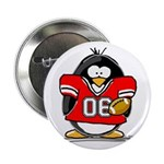 Red Football Penguin Button