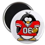 Red Football Penguin Magnet
