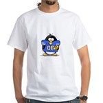 Blue Football Penguin White T-Shirt