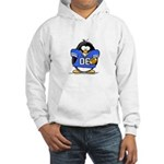 Blue Football Penguin Hooded Sweatshirt