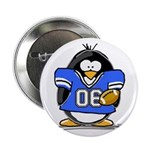 Blue Football Penguin Button