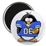 Blue Football Penguin Magnet