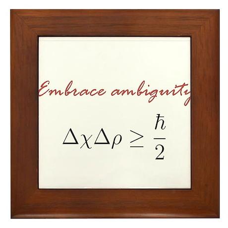 Embrace Ambiguity Framed Tile