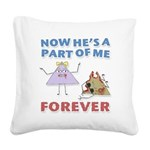 Forever Square Canvas Pillow