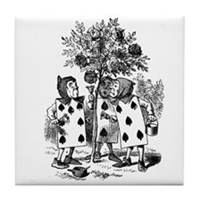 Playing Cards in Alice in Wonderland Tile Coaster