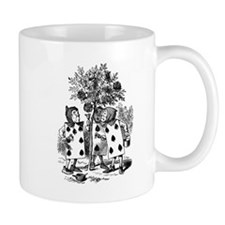 Playing Cards in Alice in Wonderland Small Mugs