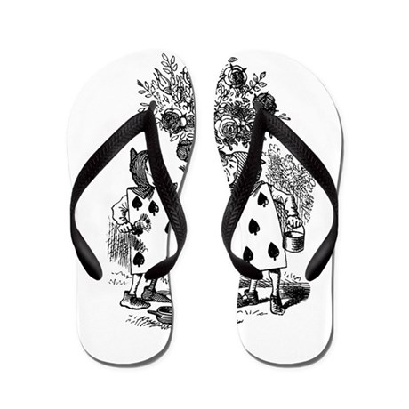 Playing Cards in Alice in Wonderland Flip Flops