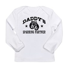 Daddy's Sparring Partner Long Sleeve Infant T-Shir