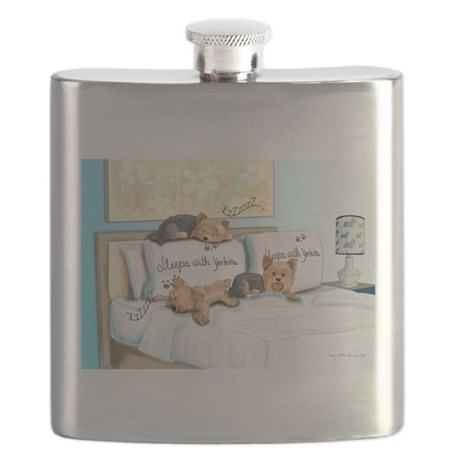 Sleeps with Yorkies Flask