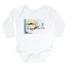 Sleeps with Yorkies Long Sleeve Infant Bodysuit