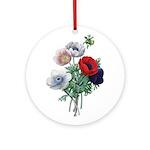 Poppy Anemones Ornament (Round)