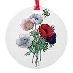 Poppy Anemones Round Ornament