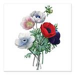 Poppy Anemones Square Car Magnet 3