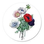 Poppy Anemones Round Car Magnet