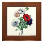 Poppy Anemones Framed Tile