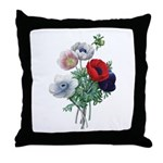 Poppy Anemones Throw Pillow