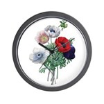 Poppy Anemones Wall Clock