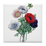 Poppy Anemones Tile Coaster