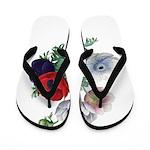 Poppy Anemones Flip Flops