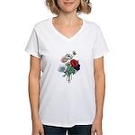 Poppy Anemones Women's V-Neck T-Shirt