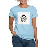 Silver Football Penguin Women's Pink T-Shirt