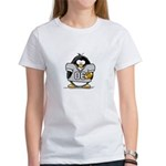 Silver Football Penguin Women's T-Shirt
