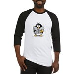 Silver Football Penguin Baseball Jersey