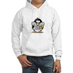 Silver Football Penguin Hooded Sweatshirt