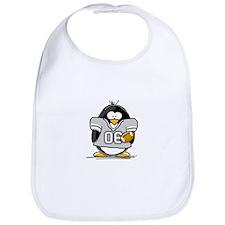 Silver Football Penguin Bib