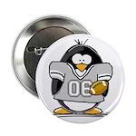 Silver Football Penguin Button