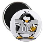 Silver Football Penguin Magnet