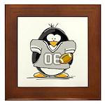 Silver Football Penguin Framed Tile