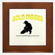 Gold Digger Prospectors Shirt Framed Tile