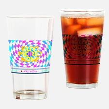Mass Media 2 (light) Drinking Glass