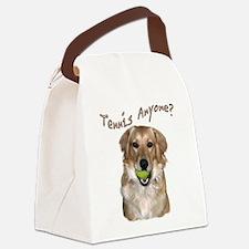 Golden Tennis Anyone Canvas Lunch Bag